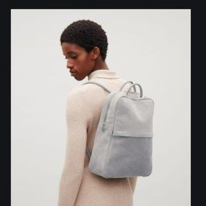COS Suede/Leather Backpack w Tubular Straps NWT